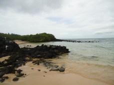 Ausgesetzt am Strand im Norden von Santa Cruz (Blick nach links)