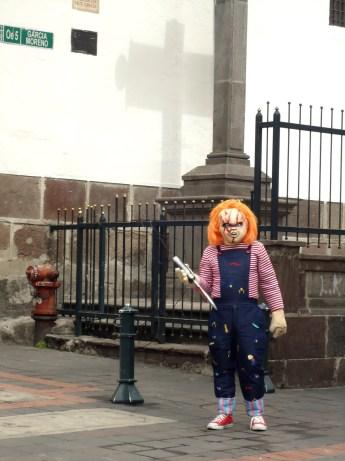 Keine Ahnung was Chucky da wollte ...