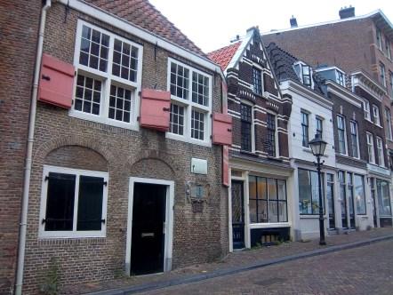 Enge Gassen, alte Häuser in Delfshaven