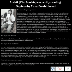 Reader Interview of Archit (The Newbie) @ BYOB Party in March 2018