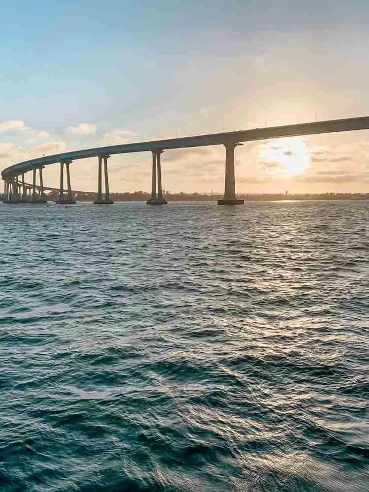 Coronado Bay Bridge at Sunset