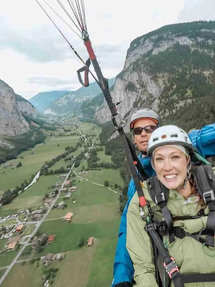 Paragliding in Switzerland Travel as a Couple