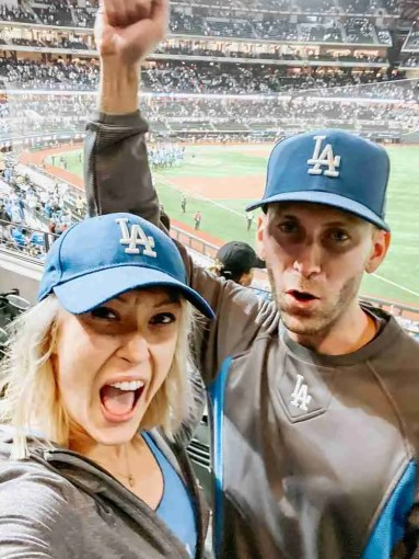 Dodgers fans celebrating 2020 World Series victory