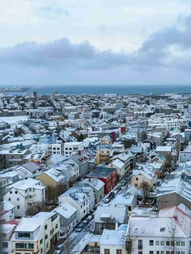 Elevated view of Reykjavik, Iceland
