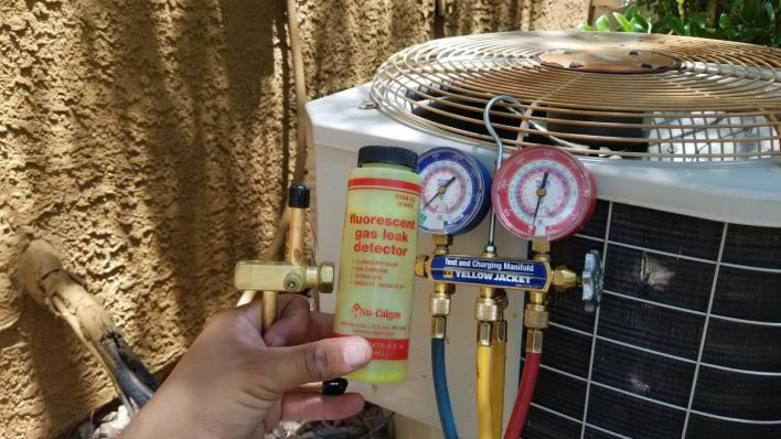 one of HVAC problem is low refrigerate