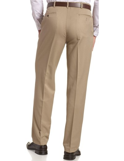 Haggar Men's Cool 18 Hidden Expandable-Waist Plain-Front Pant_3