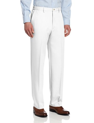 Haggar Men's Cool 18 Hidden Expandable-Waist Plain-Front Pant_5