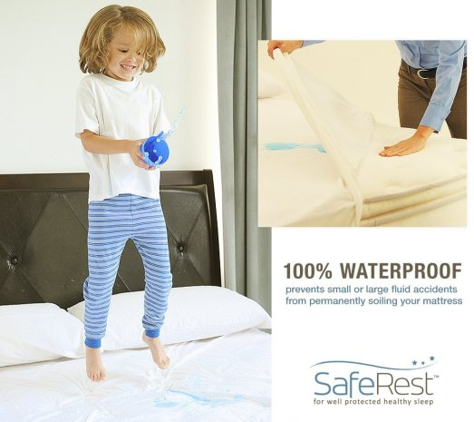 SafeRest Premium Hypoallergenic Waterproof Mattress Protector_3