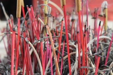 Incense remnants