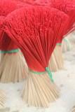 Incense sticks awaiting incense application