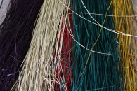 Dyed reeds, waiting to become woven mats