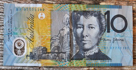 Australian dollars - for the 15 hours I spent in the Sydney airport