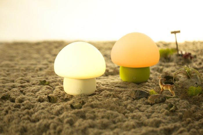 emoi基本生活 蘑菇情感灯,触拍感应LED小夜灯