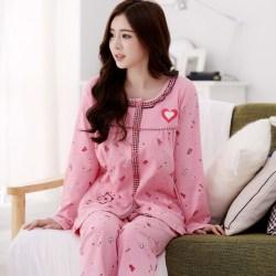 春秋纯棉长袖睡衣