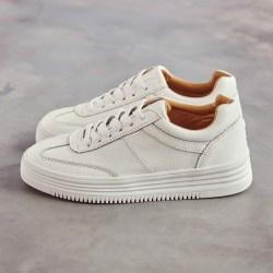 秋季厚底小白鞋圆头女鞋