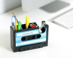 复古磁带胶带座+笔筒