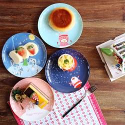 圣诞雪夜系列陶瓷盘子