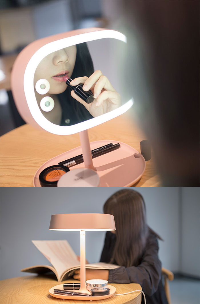 MUDI化妆镜台灯