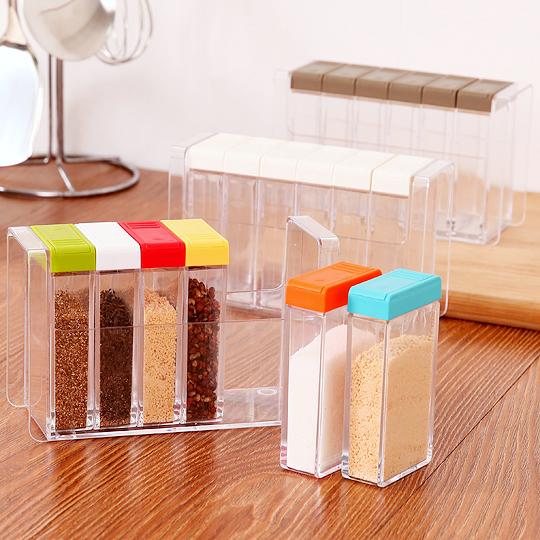 厨房透明塑料调料盒