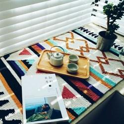 几何纯棉设计图案小地毯