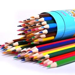 得力筒装彩色铅笔