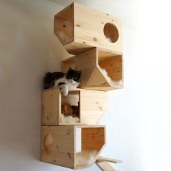 Wooden Modular Cat House