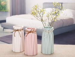简约磨砂陶瓷花瓶
