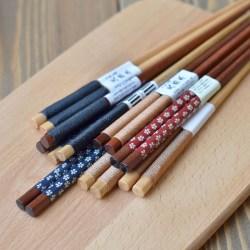 日式绕线木筷