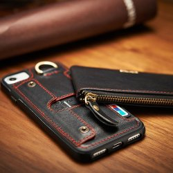 Leather Flip Wallet Slim Case By Fancy
