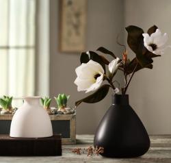 唐朝日式禅意陶瓷干花花瓶摆件