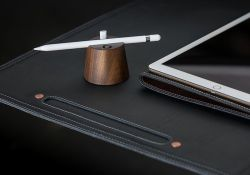 Wooden Apple Pencil With Charging Adapter Holder By Pad and Quill