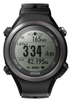 Epson Runsense SF-810 GPS Watch with built-in Heart Rate Monitor to Maximize Your Run Performance