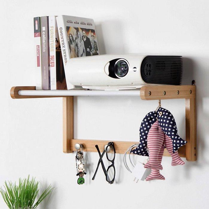 Wood Wall Shelf With Hooks