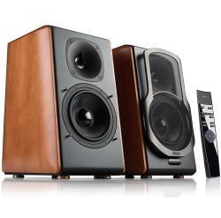 Edifier/漫步者 S2000MKII 无线蓝牙HIFI音箱木质音响,原木侧板支持光纤同轴