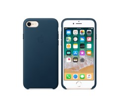 iPhone 8 / 7 Leather Case – Cosmos Blue