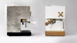 AnZa Concrete Coffee Machine Redefining Espresso in Concrete and Corian