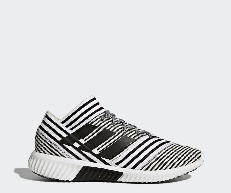 Adidas阿迪达斯 男子 NEMEZIZ TANGO 17.1 训练鞋,黑白斜纹织物面料