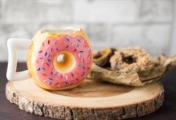 Comfify Ceramic Donut Mug Delicious Pink Glaze Doughnut with Sprinkles