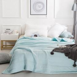 Mian眠度 水洗棉夏凉被,7色可选,水先机洗薄款被子被芯 150x200cm 1.5m床