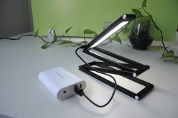 MORECOO Flexible Portable Table Lamp with USB Charger