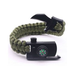 Paracord Survival Bracelet Kit, Military Parachute Rope Survival for Camping Hiking Fishing Trav ...