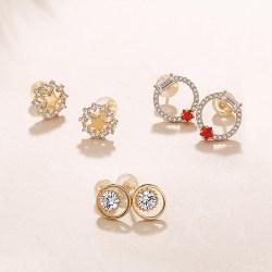 银时代Silverage 925纯银耳钉女气质个性创意星彩系列耳钉