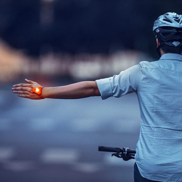 SeniTurn Wearable Safety Bike Indicator Lights By Firebox