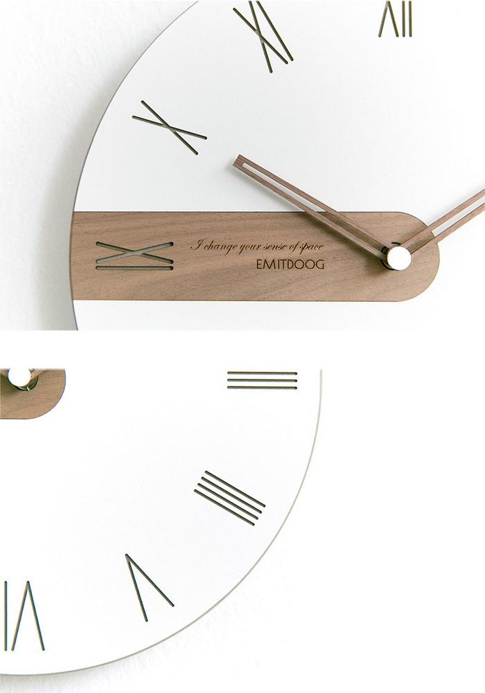 EMITDOOG现代简约北欧挂钟,客厅卧室创意个性石英钟表