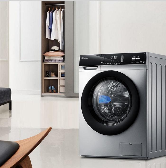 LittleSwan小天鹅 滚筒洗衣机TD100V62WADS5,全自动洗烘一体机10公斤变频,APP控制