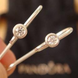 PANDORA潘多拉 925 纯银耳环钩 290677CZ