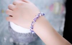 奥地利紫水晶薰衣草手链,百搭多彩水晶