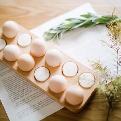 自然和家 原创设计实木鸡蛋托,个性摆件居家收纳