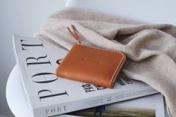 Half zip Classic Leather Zipper Wallet By FjordProject