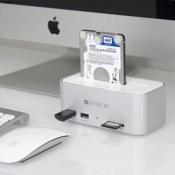 Satechi Aluminum HDD / SSD Docking Station with Hub and Card Reader